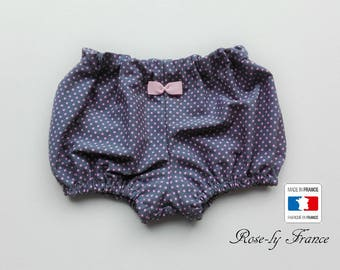 Bloomers baby chic grey polka dot pink