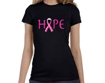 Breast Cancer Awareness Hope Survivor Pink Ribbon Women's T-Shirt