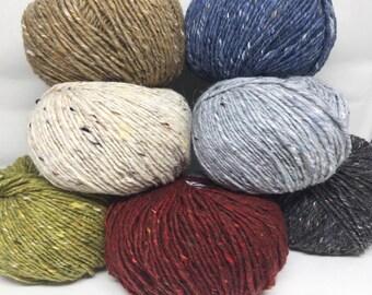 SUPER SALE - Debbie Bliss Donegal Luxury Tweed Aran - wool / angora yarn