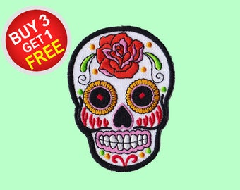 Day of the Dead Patches Iron On Embroidered Patches Wholesale Patches