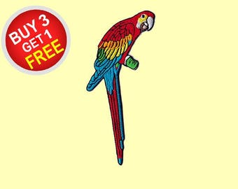 Parrot Patches Iron On Embroidered Patches Embroidered Applique