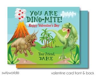 Dinosaur T-Rex Digital Valentines, Valentine Cards for Boys, Printable T-Rex Dinosaur Valentine Card, Dinosaur Valentine DI-VAL68
