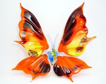 Butterfly Glass Figurine, Glass Miniature, Collectibles, Glass Sculpture, Glass Figurine, Glass Animal, Art Glass, Gift