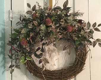 LEAVES & VINES Farmhouse Style Wreath