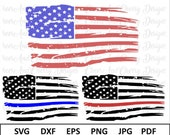 Distressed Flag Svg American flag with blue line Svg American Flag SVG Silhouette Cameo Flag Svg files for Cricut 4th of July Svg USA Flag