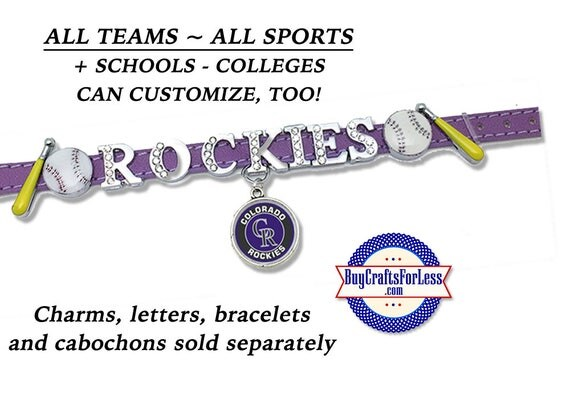 MLB Baseball ~ ALL TEaMS BASBaLL or NaME Bracelet +FREE Shipping & Discounts*