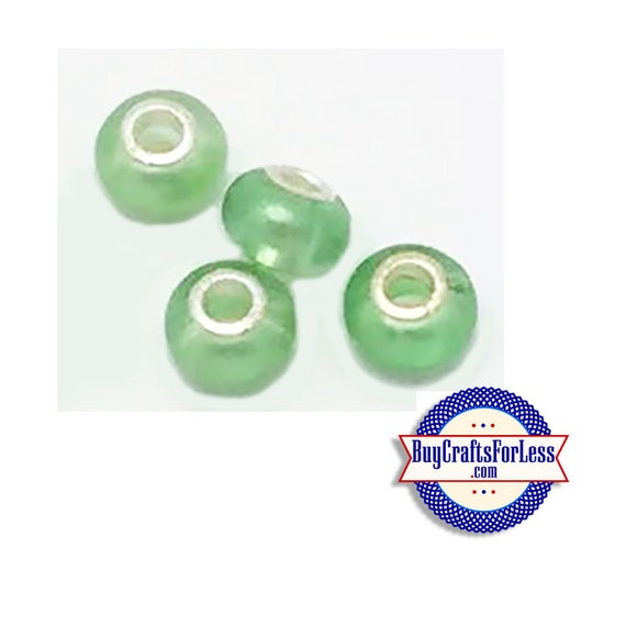 Acrylic BEADS, Green PEARL, Pretty color, Choose 8 or 25 pcs  +FREE Shipping & Discounts*