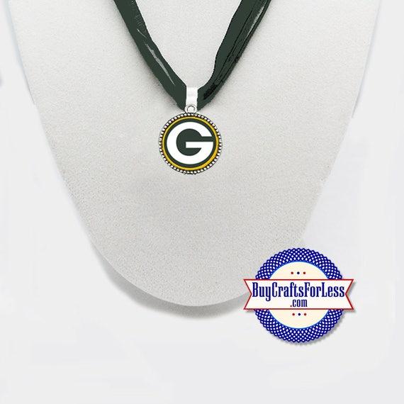 GREEN BaY Football PENDaNT, CHooSE Logo and Ribbon Cord - Super CUTE!  +FREE SHiPPiNG & Discounts*