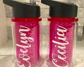 Personalized Flower Girl/Ring Bearer Wedding Party Kids Water Bottle