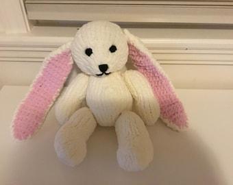 Super soft and cuddly stuffed toy bunny rabbit. Amigurumi, animal, toy, handmade
