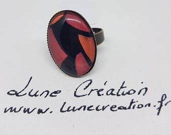 This unique ring, painted by hand