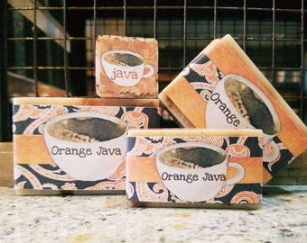COFFEE Handmade Goat Milk Bar Soap // Kitchen Soap // ORANGE JAVA