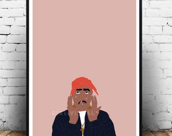 2pac poster, Tupac Shakur merch, 2pac Merch, Tupac wall art, Tupac Shakur print, Tupac hip hop rap poster, Tupac Shakur art, 2pac print art