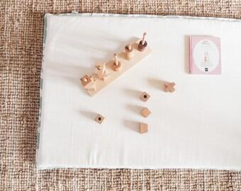 matelas de sol b b montessori ecru coton bio tapis de jeu. Black Bedroom Furniture Sets. Home Design Ideas