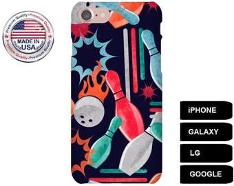 Bowling Phone Case, Phone Case Bowling, Galaxy S6 Edge Case, Galaxy S6 Edge Plus Case, Galaxy A3 Case, Google Pixel Case, iPhone 6 Plus Case