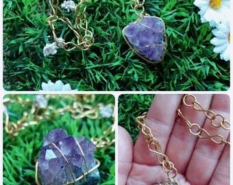 Amethyst-Amethyst Druzy drusen necklaces necklaces