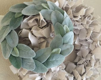 Small Lambs Ear Wreath