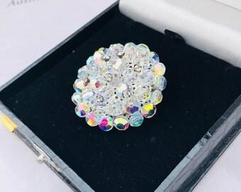 Vintage Auroa Borealis Crystal Brooch
