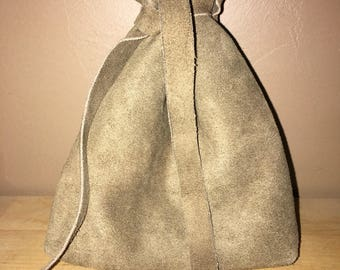 Leather Drawstring Dice Bag, Coin Pouch