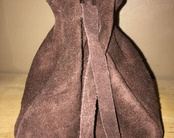 Large Leather Dice Bag, Coin Pouch