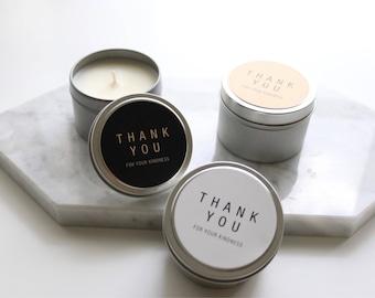 50 X Thank you 4oz Candles