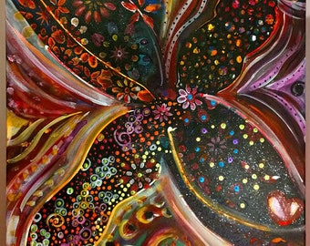 """Dragonfly"" Evelyn Dumont artist canvas"