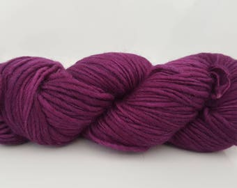 Purple Merino wool yarn