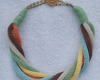 Unique Handmade Knitted Necklace