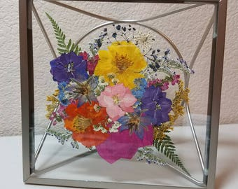 Multicolored Flower Prism Frame