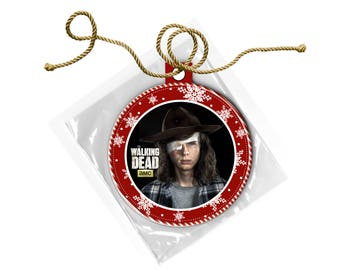 The Walking Dead Carl Grimes Chandler Riggs Christmas Ornament