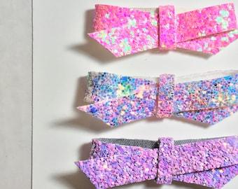 Suzy Q Glitter Twists/Trio/Glitter/Hair Clips/Headbands