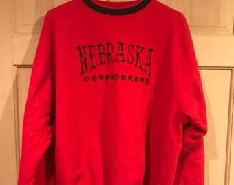 Nevraska Cornhuskers vintage crewneck