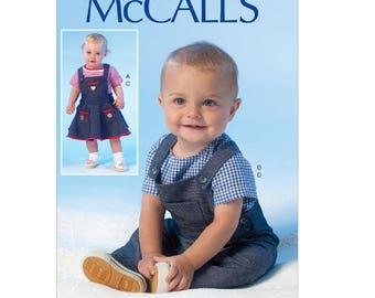 McCall's 7038 - Infants' Snap-Closure Tops, Jumper and Overalls