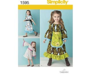 Simplicity Pattern 1595 - Toddlers' and Child's Dress