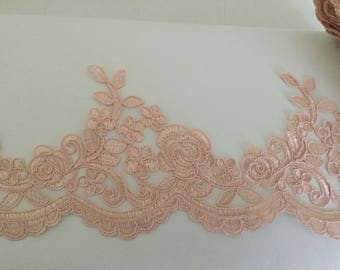 Old Pink for 13 cm wide wedding dress lace