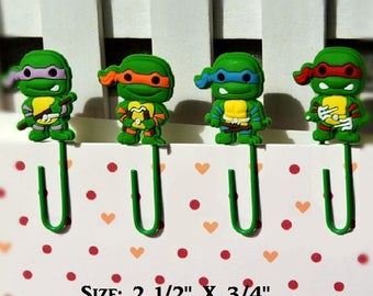 Ninja Turtles Paper Clips Super Sweet Stocking Stuffers For Kids Xmas Gifts Office Accessories Gifts (8) Cartoon Paper Clips