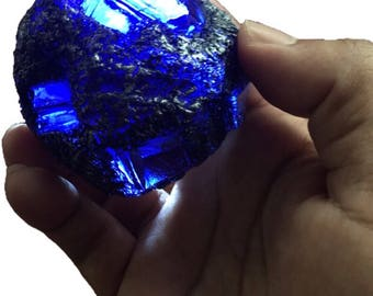 Smallville style Blue Kryptonite meteor rock prop replica Bizarro