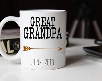 Great Grandpa Mug, Great Grandpa mug, Great Grandparents gift, Grandpa Coffee Mug, Pregnancy Reveal, Gift for dad, Great Grandpa