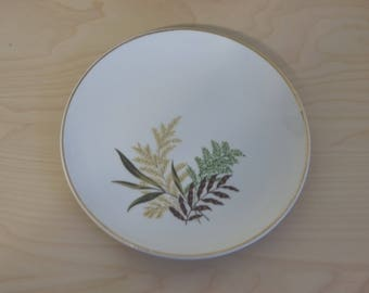 Vintage 1950s dinnerware with fern pattern