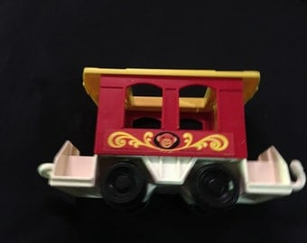 Vintage Fisher Price Circus Train piece