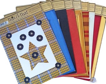 9 boards cardstock My Mind's Eye This & That, die-cuts and frames scrapbooking cardmaking