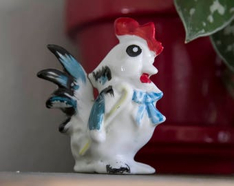 Porcelain Rooster, Made in Occupied Japan, Figurine