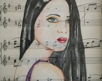 Music Girl, Sunnymixedmedia