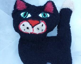 """Cuddly little cat """"Titou"""" 20 x 15 cm fabric sponge"""