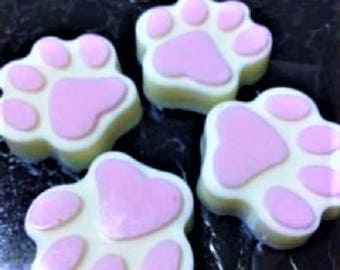 6 Paw Soap,Cat Paw Soap,Dog Paw Soap,Dog Lover Soap,Cat Lover Soap,Birthday Favor,Kids Soap,Guest Soap,Joke Soap, Gag,Fun Gift,6 Small Soaps