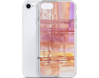 Art iPhone Case, pink abstract case, 6 Plus/6s Plus, 6/6s  iphone case, 7 Plus/8 Plus, 7/8 phone cover, iPhone X case, watercolor artsy case