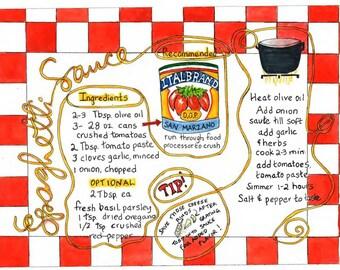 Spaghetti Sauce illustrated recipe