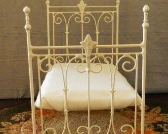 "Artisan Made American Girl 20"" Scale Wrought Iron Look Bed ""Linden"""