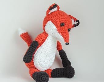 Amigurumi animals, gift stuffed fox, plush fox, animal, amigurumis, stuffed toy, plush soft toy toddlers, crochet fox stuffed, knitted plush
