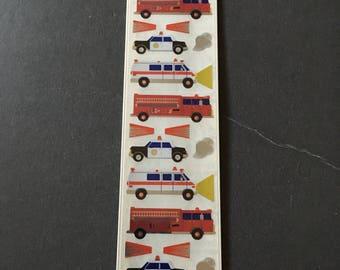 Sandylion rare shiny emergency vehicles sticker strip
